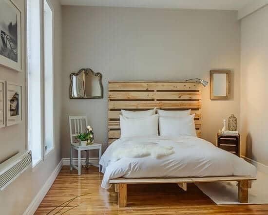 dùng pallet gỗ làm giường