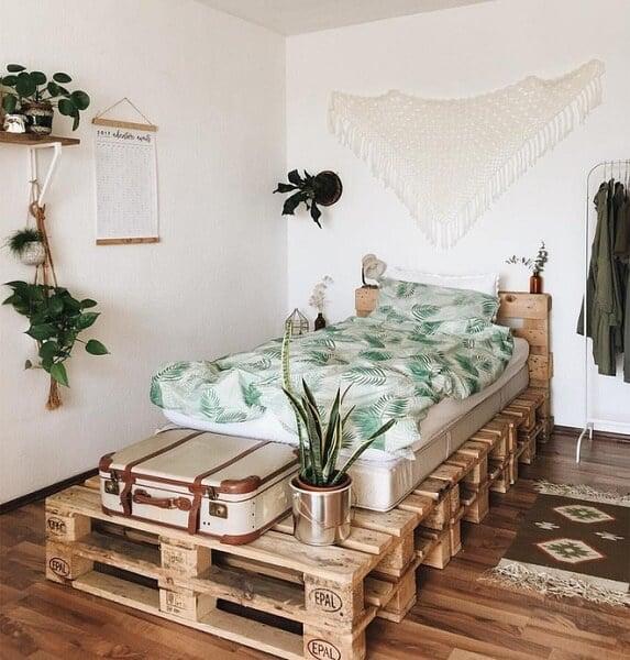cách đóng pallet gỗ làm giường